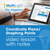 Coordinate Plane / Graphing Points Video Lesson with Stude