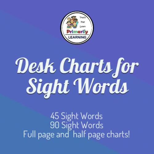 Desk Charts for Sight Words complement Jolly Phonics Tricky Words!
