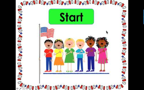 Summer School Addition:  PowerPoint Game!  56 Addition Facts to 10 PATRIOTIC