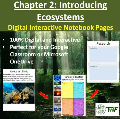 Introducing Ecosystems - Digital Interactive Notebook Pages