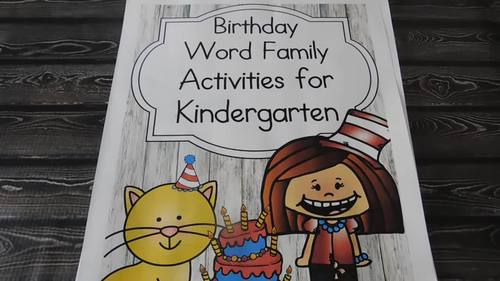 Literacy Bundle:Word Family Game,Activities & Writing for Dr. Seuss Birthday Fun