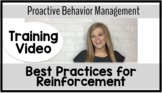 Best Practices for Reinforcement {Proactive Behavior Manag