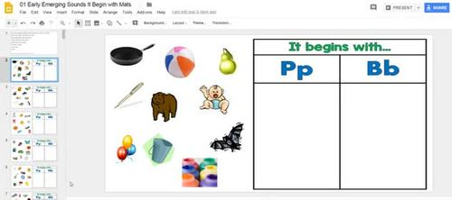 It Begins with Phonic mats using Google Slides