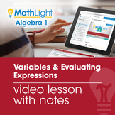 Evaluating Variable Expressions Review Video Lesson with G