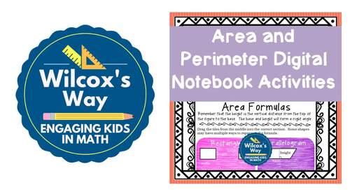 Area and Perimeter Digital Notebook Activity
