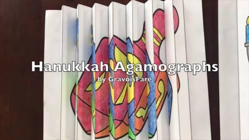 Hanukkah Activities and Crafts: 3 Agamographs (Chanukah)