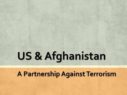United States and Afghanistan Relations Current Events Unit for Special Ed