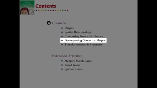 Geometry: Decomposing Geometric Shapes - Practice the Skill 2 - PC Gr. PK-2