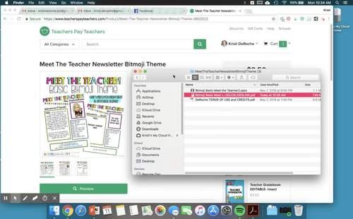 Meet The Teacher Newsletter Bitmoji Theme