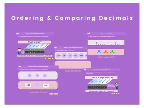 Ordering and Comparing Decimals - 6th grade (UK Year 7)
