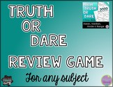 Playing Truth or Dare Review Game - in any subject!
