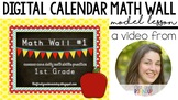 Calendar Math Wall Model Lesson VIDEO
