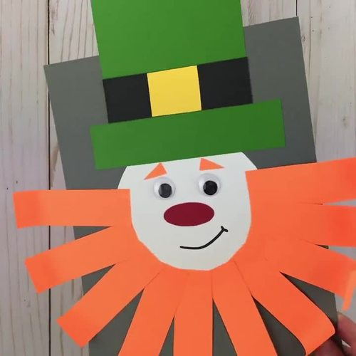 St. Patrick's Craft - Leprechaun Craft - Shape Craft