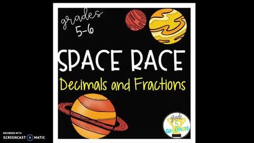 Math Race across Space