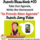 "20 French Class Transition Video ""Take Out My Agenda"" for"