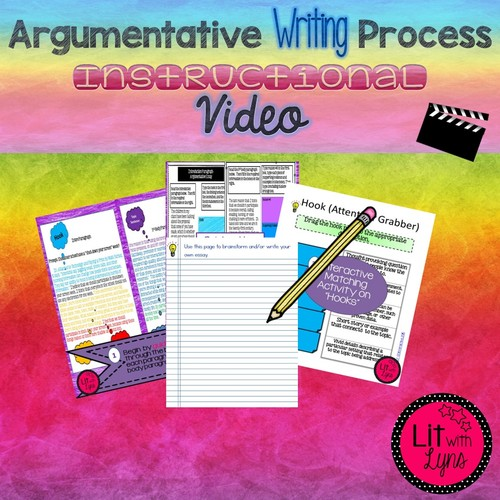 Argumentative Essay Writing Instructional Video By Lit With Lyns Video Thumbnail For Argumentativeessaywritingprocessclipped High School Entrance Essay also What Is A Thesis Statement In An Essay Examples  High School Admission Essay Examples