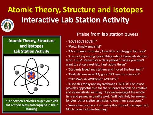 Atomic Theory, Structure and Isotopes - 7 Engaging Lab Stations