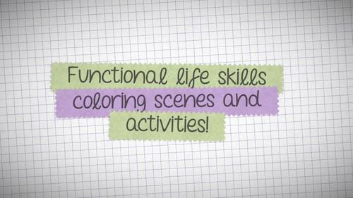 Functional Life Skills Coloring Scenes and Activities