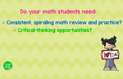 5th Grade Math Spiral Review 3