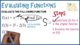 Evaluating Functions #2: Whiteboard Animation