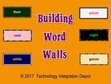 Building Word Walls  (Computer Lab Activity)