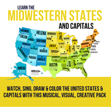Midwestern States and Capitals Pack
