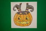 Let's Draw a Witch crashing into a Jack O'Lantern!
