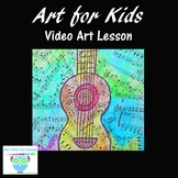 Kid's Art Video Lesson: Teacher Directed Guitar Collage Ar