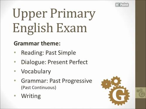 Upper Primary English Grammar Exam: Past Simple / Progressive for ESL / EFL