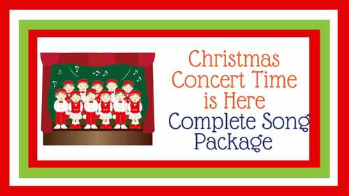 """Original Song   """"Christmas Concert Time is Here""""   Complete Song Package"""