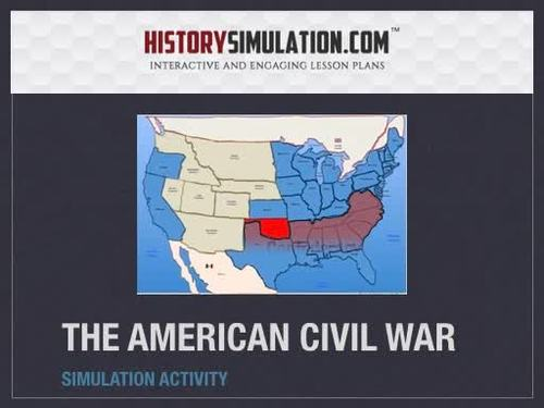 Civil War Simulation Activity + 1 Year Online Access!