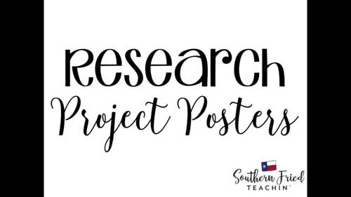 Black History Research Project Posters