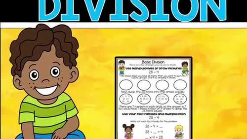 Basic Division with Remainders -Task Cards