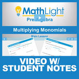 Multiplying Monomials Video Lesson with Student Notes