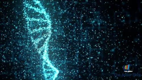 Motion Graphics Background HD (1080p) - Digital DNA (Blue)
