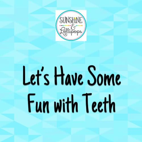 February Dental Health Month Fun Teeth Activities for K-1