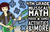Musical 4th Grade Math Review: Common Core Math Review Pac