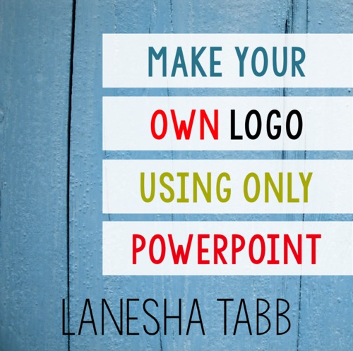 create your own logo with powerpoint tutorial by education with an apron