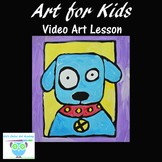 Video Art Lesson: Draw and Paint a Puppy Dog Portrait With