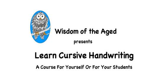 How To Teach Cursive Handwriting To Yourself Or Your Class Section 3