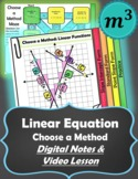 Linear Functions: Choose a Method Video Lesson