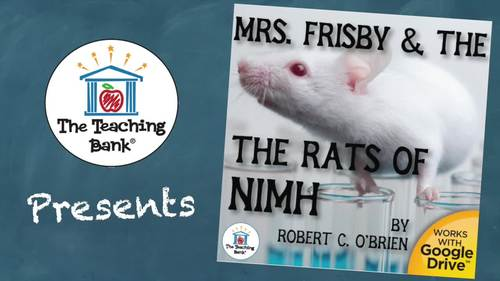 Mrs. Frisby and the Rats of NIMH Novel Study Book Unit