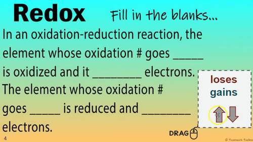OXIDATION-REDUCTION ~ Interactive Digital Resource for Google Classroom ~ REDOX