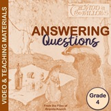 Answering Questions Video and Materials for Fourth Grade C