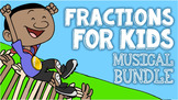 Basic Fractions Bundle for Kids ♫♪ Introduces Fractions On