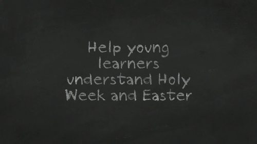 Religious Easter Religious and Holy Week for Little Learners