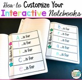 How to Customize Your Interactive Notebooks Video Tutorial