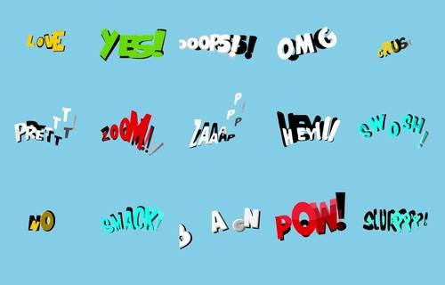 15 Animated Comic Texts #1