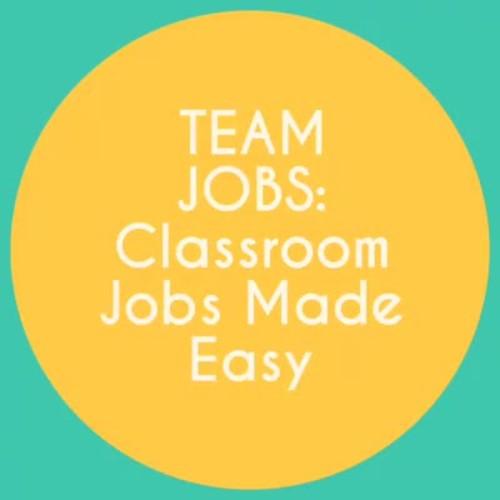 Team Jobs - Editable