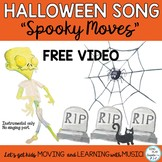 "Halloween Music Class Activity Song ""Spooky Moves"" Video,"